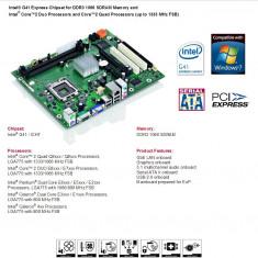 113E.Placa de Baza Fujitsu Siemens Fujitsu, 2xDDR3, Socket 775, Cipset G41-ICH7, Pentru INTEL, LGA775, Contine procesor, Ultra ATX