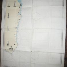 Harta navigatie- Marea Neagra de la Capul Caliacra la Capul Midia 1970