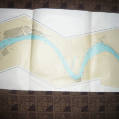 Harta Navigatie pe Dunare in dreptul Galatiului, dim.= 100x46 cm