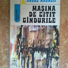 Andre Maurois – Masina de citit gandurile - Carte SF