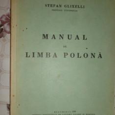 Manual de limba polona an 1938 / 155pag- Stefan Glixelli Altele