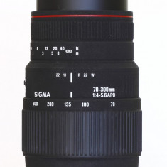 CANON Sigma 70-300mm f4-5.6 DG APO+ filtru UV HOYA HMC+ parasolar - Obiectiv DSLR