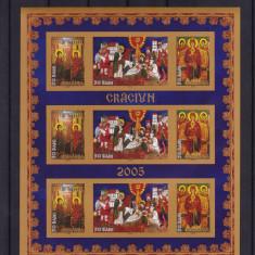 ROMANIA  2005  LP  1704 c  CRACIUN   MINICOALA 3 SERII  NEDANTELATE MNH