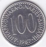 Moneda Iugoslavia 100 Dinari 1987 - KM#114 aUNC, Europa