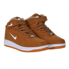 Bocanci NIKE - inblaniti - Bocanci barbati Nike, Marime: 36, 37, 39, 42, 43, 44, Culoare: Maro, Piele sintetica