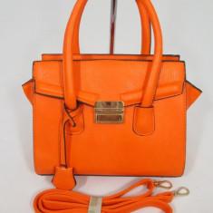 Geanta dama portocalie model Celine+CADOU, Culoare: Din imagine, Marime: Medie, Geanta de umar, Orange, Asemanator piele