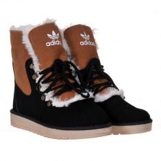 Bocanci dama Adidas -piele, Culoare: Maro, Marime: 38, 39, 40, Piele naturala