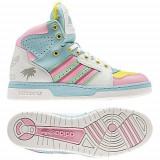Adidasi Originali Adidas Jeremy Scott JS License Plate Miami, Noi, Autentici!, 42 2/3, 43 1/3, 44 2/3, 45 1/3, Piele naturala