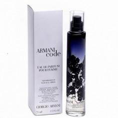 ARMANI CODE Femme 100 ml TESTER ORIGINAL - Parfum femeie Armani, Apa de parfum, 75 ml