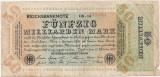GERMANIA 50 MILLIARDEN MARK 1923 U