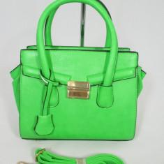 Geanta dama verde model Celine+CADOU, Culoare: Din imagine, Marime: Medie, Geanta de umar, Asemanator piele