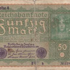 GERMANIA 50 marci 1919 VF-!!! - bancnota europa