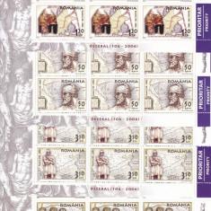 ROMANIA 2006 LP1730, ZIUA MARCII POSTALE ROMANESTI DECEBAL COLI 12 MARCI MNH - Timbre Romania, Nestampilat