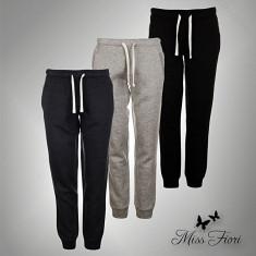 Nou! Pantaloni Fitness Trening Dama Miss Fiori originali - XS S M L XL XXL - Pantaloni dama, Culoare: Alb, Gri, Indigo, Negru