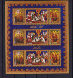 ROMANIA  2005  LP 1704 b   CRACIUN  MINICOALA 3 SERII DANTELATE  MNH, Nestampilat
