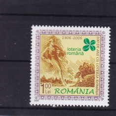 ROMANIA 2006, LP1737, CENTENARUL LOTERIEI ROMANE SERIE MNH - Timbre Romania, Nestampilat