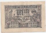 ROMANIA 1 LEU 1915 VF VARIANTA DE CULOARE