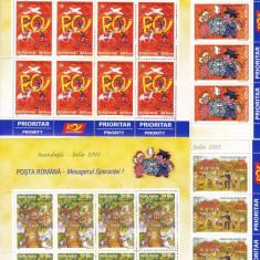 ROMANIA 2005, LP 1692 a, INUNDATII III MINICOALA 8 TIMBRE MNH - Timbre Romania, Nestampilat