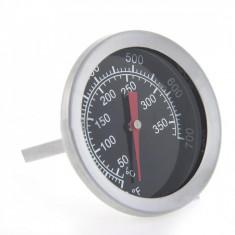 Termometru alimentar pentru cuptor, analogic, de insertie, metalic, pentru gatit - Termometru bucatarie