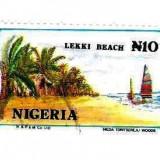 NIGERIA, timbru stampilat, plaja - Timbre straine