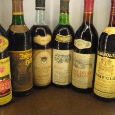 6 sticle vin lotto ( D ) recoltare 1970/1971/1973/1974/1977/1983 - Vinde Colectie, Aroma: Sec, Sortiment: Rosu, Zona: Europa