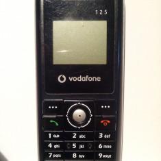 ZTE Vodafone 125 - Telefon mobil Vodafone, Negru, Nu se aplica, Fara procesor