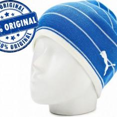 Caciula Puma Blue - caciula originala - caciula iarna - Fes Barbati Puma, Marime: Marime universala, Culoare: Albastru, Fes