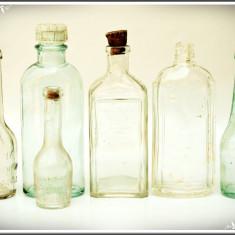 LOT 6 STICLUȚE RARE ȘI VECHI DE BĂUTURĂ, SPIRT ȘI PARFUM - DIANA, LUBIN, MULLER! - Sticla