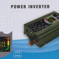 Invertor Auto 1000W Cu Display LCD, Iesire USB 1A Si Priza 220V - Invertor curent