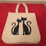 Geanta cu pisici - Geanta handmade