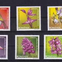 ROMANIA 2007, LP 1758, ORHIDEE SALBATICE DIN ROMANIA SERIE MNH - Timbre Romania, Nestampilat