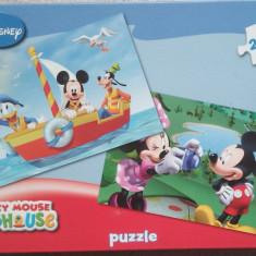 Set 2 Puzzle Altele Mickey Mouse Club House, 2x48, Disney, 4-6 ani, Carton, 2D (plan), Unisex