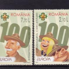 ROMANIA 2007, LP 1762, EUROPA CENTENARUL CERCETASIEI SERIE MNH - Timbre Romania, Nestampilat