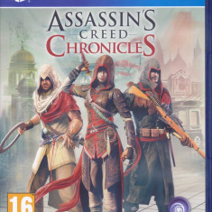 Joc PS4: Assassin's Creed Chronicles (episoade in China, India si Rusia) - Jocuri PS4, Role playing, 18+