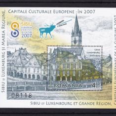 ROMANIA 2007 LP 1781, CASA LUXEMBURG COLITA DANTELATA MNH - Timbre Romania, Nestampilat