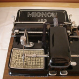 Masina de scris MIGNON AEG vintage-colectie+banda noua de scris