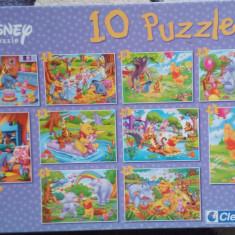 Set 10 Puzzle Altele Winnie the Pooh, Disney, Clementoni, 4-6 ani, Carton, 2D (plan), Unisex