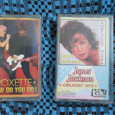 JANET JACKSON - GREATEST HITS + ROXETTE - HOW DO YOU DO! (OFERTA 2 CASETE AUDIO)