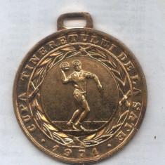 MEDALIA CUPA TINERETULUI DE LA SATE 1971 -HANDBAL LOCUL 1 - Medalii Romania
