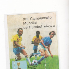 Colita neuzae XIII CAMPIONAT MONDIAL FODBAL Emis de Barasilia - Timbru de Automat