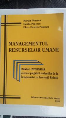 MANAGEMENTUL RESURSELOR UMANE ,MANUAL UNIVERSITAR foto