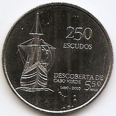Insulele Capului Verde 250 Escudos 2010 - (Independence)30 mm KM-51 aUNC !!! (1), Africa