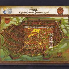 ROMANIA 2007 LP 1770 SIBIU COLITA DANTELATA MNH - Timbre Romania, Nestampilat