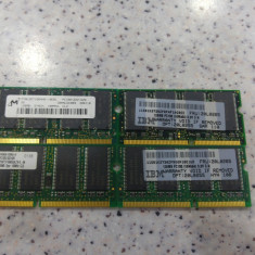 Lot 4 memorii laptop 128Mb sdram, se vand la pretul final. - Memorie RAM laptop Micron, Dual channel