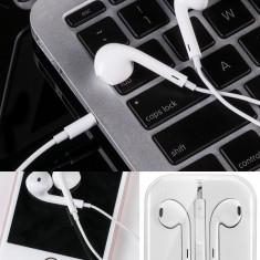 Casti Hoco replica premium 1:1 Apple EarPods, sunet excelent, comenzi rapide, ALB, Casti In Ear, Cu fir, Mufa 3, 5mm