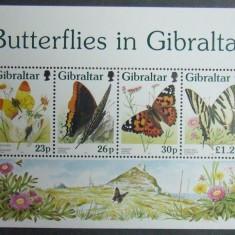 GIBRALTAR 1997 - FLUTURI, 1 M/SH NEOBLITERATA - GB 136