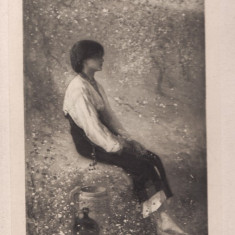 Nicolae GRIGORESCU, PRIMAVARA, operele sale, fotografie Stelian, originala - Reproducere, Portrete