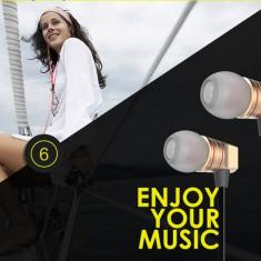 Casti audio stereo in-ear Hoco ultra bass, Apple, iPhone, Samsung, universal AURIU, Casti In Ear, Cu fir, Mufa 3, 5mm