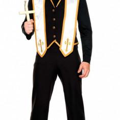 MAN62-1 Costum tematic Halloween barbati - Bad Habit Priest, Marime: M