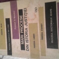 MARI PROCESE DIN ISTORIA JUSTITIEI DE YOLANDA EMINESCU 1970, 260 PAG - Carte Istoria dreptului
